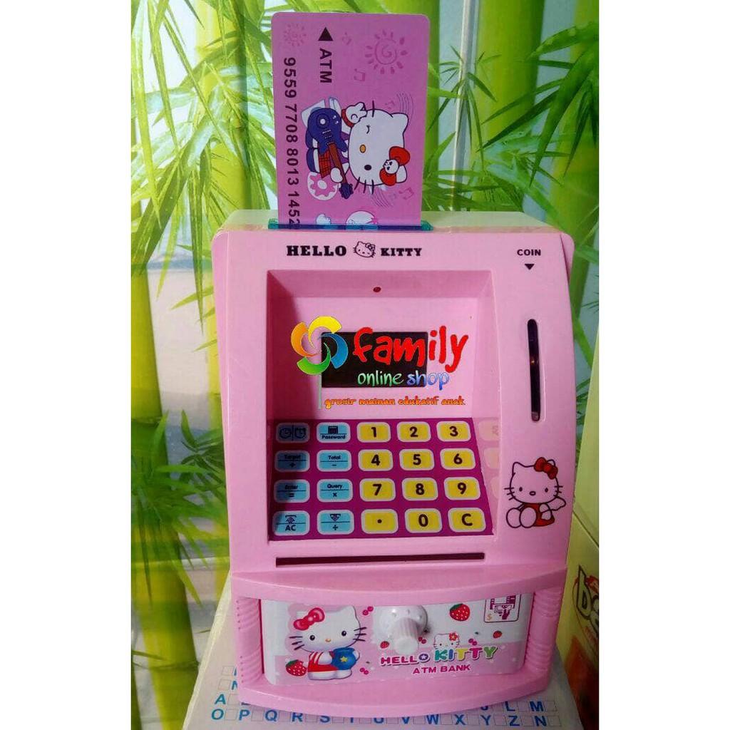 (Mainan Anak) ATM MINI anak /celengan ATM anak Hello Kity & Doraemon |