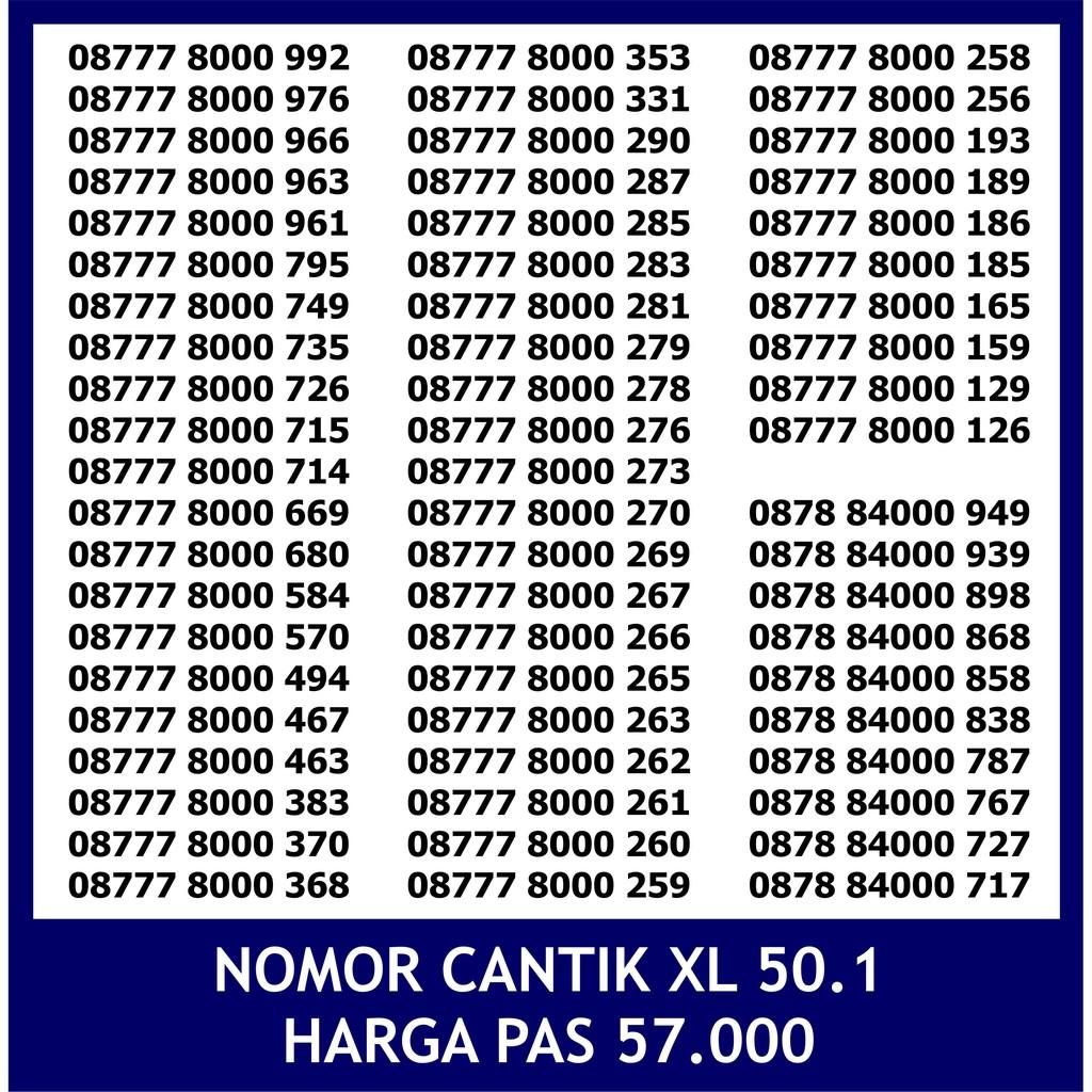 PERDANA NOMOR CANTIK XL | Shopee Indonesia -