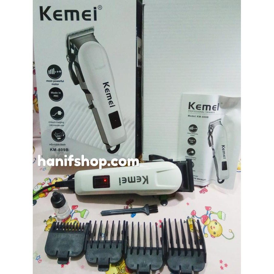 Kemei Km 809a Electric Rechargeable Hair Clipper Trimmer With Lcd 809b Alat Mesin Cukur Potong Rambut Cordless Screen Shopee Indonesia