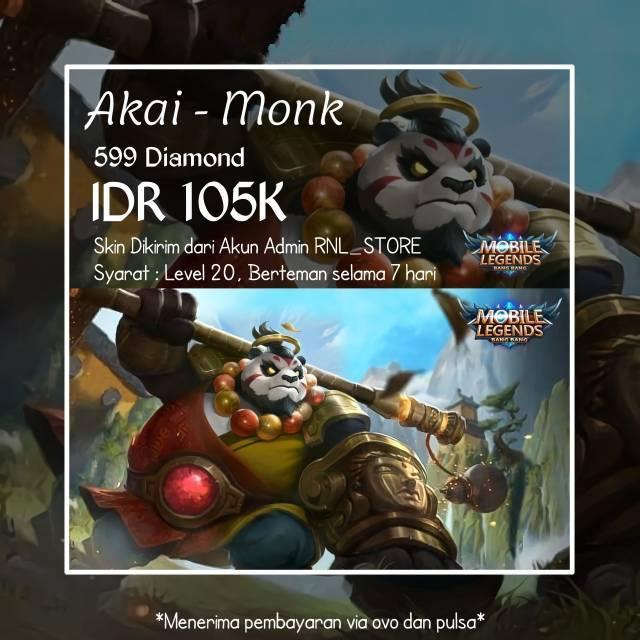 Gift Skin Mobile Legends Akai - Aman u0026 Legal 100%