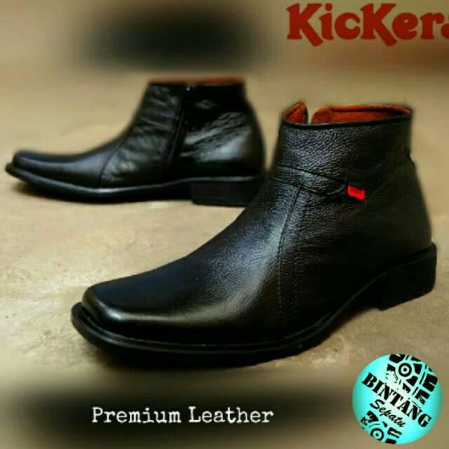 Clarks Free Kaos Kaki - Sepatu Pantofel Pria Sleting Kulit Asli Handmade  935ec87a39