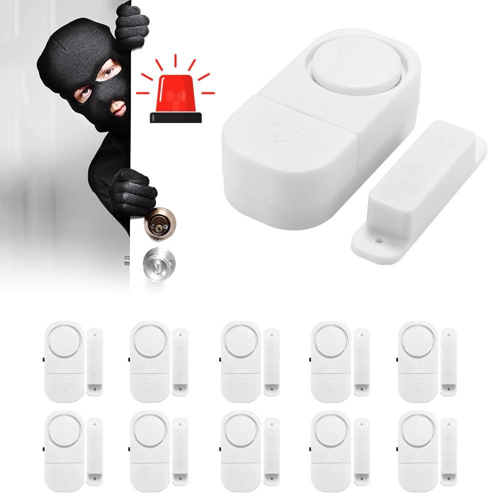 Paket 24 Buah Alarm Pintu Anti Maling Kecil Putih Door Entry Hpr186 Jendela Kaca Rumah Sensor Keamanan Shopee Indonesia