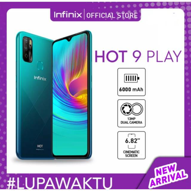 Infinix Hot 9 Play 2 32 Resmi Handphone Shopee Indonesia