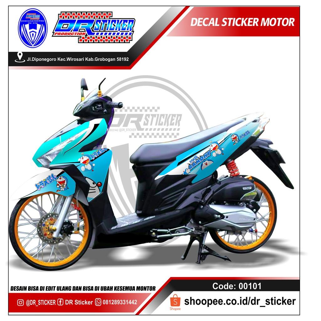 Decal Motor Vario 150 New Doraemon Shopee Indonesia