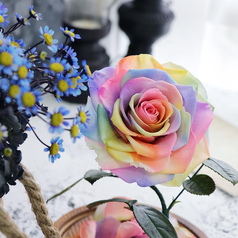 Diimpor Bunga Abadi Kotak Hadiah Kecil Pangeran Bunga Mawar Nyata Dengan Hiasan Kaca Penutup Kekasih Shopee Indonesia