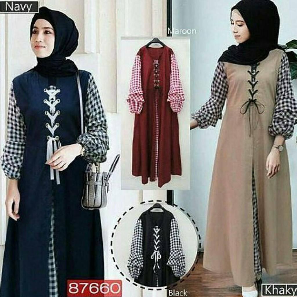 SOIMAH DRESS Balotelly Baju Gamis Wanita Hijab Muslimah Murah Baju Model  Terbaru Dan Kekinian Santai