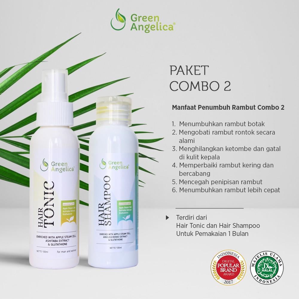 Obat Penumbuh Rambut Botak dan Mengatasi Rambut Rontok Parah - Green Angelica   Shopee Indonesia
