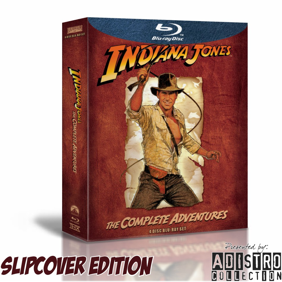 Film Blu Ray Indiana Jones Edisi Slipcover Box Set Complete Shopee Indonesia