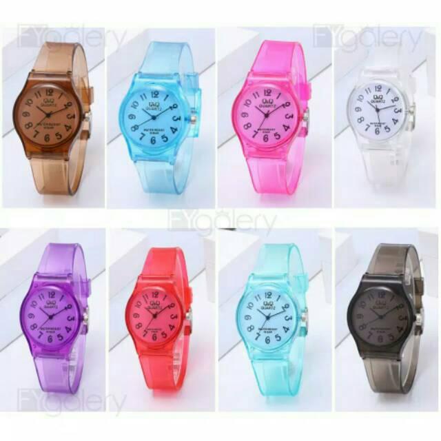 jam Tangan Q&Q JELLY Angka Transparant Transparan jam tangan murah. | Shopee Indonesia