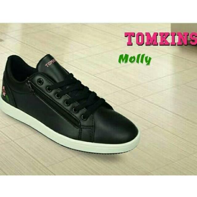 Sepatu Tomkins Remaja Molly Blk Wht Shopee Indonesia