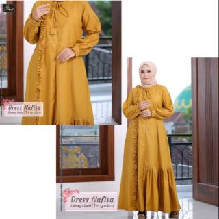 e009635b5b Gamis muslim dress nafisa by arrafi | Shopee Indonesia