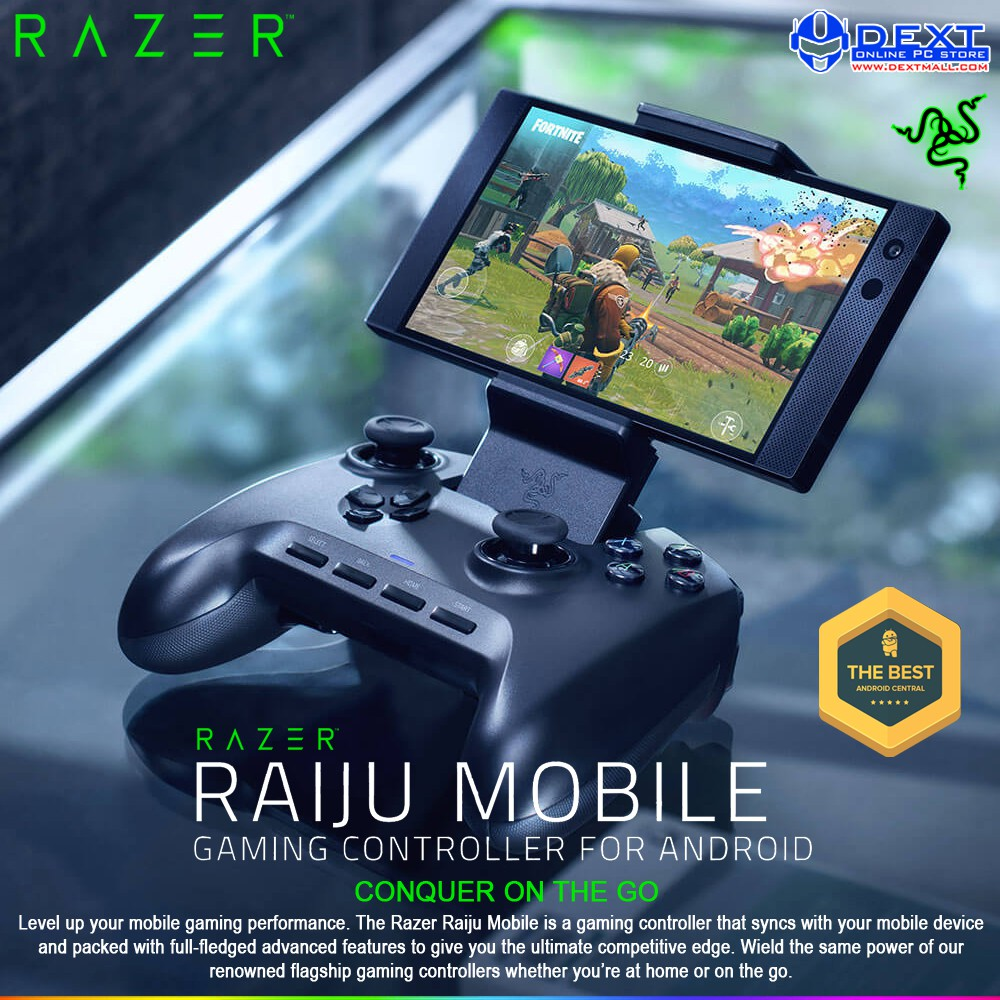 Razer Raiju Mobile For Android Gaming Controller Shopee Indonesia An aquatic creature, raiju invokes a galapagos iguana and crocodile in appearance and behavior. razer raiju mobile for android gaming controller