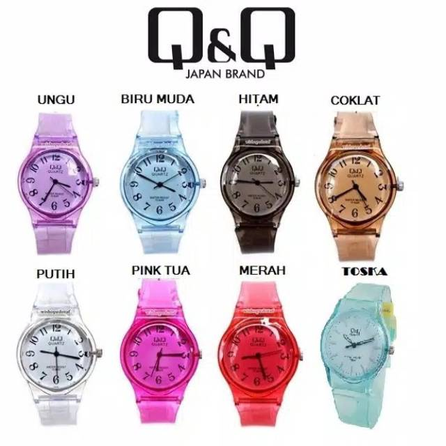 JAM TANGAN Q&Q jelly Transparan murah|| Jam wanita QnQ bening qnq jam fashion JAM ANAK JAM CEWEK | Shopee Indonesia