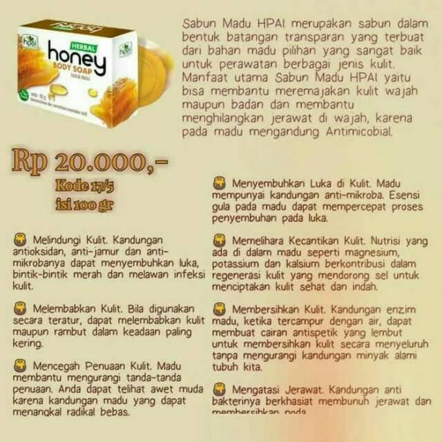 Sabun Madu Hni Hpai Shopee Indonesia
