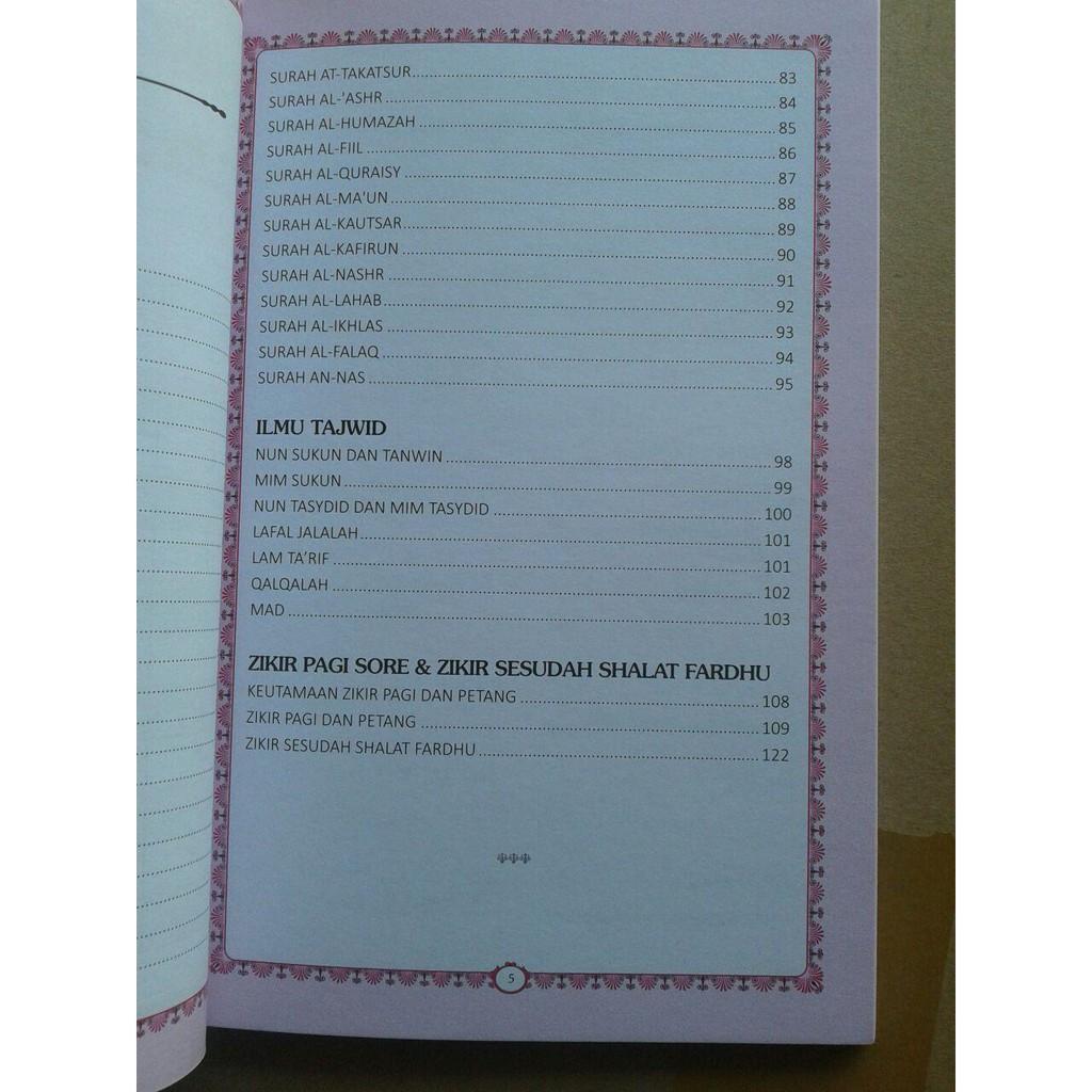 Buku Juz Amma Terjemahan Bacaan Latin Dan Ilmu Tajwid