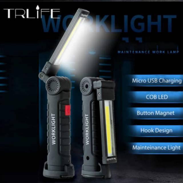 Car Repair And Maintenance >> Worklight Senter Cob Button Magnet Flashlight Led 2000 Lumens Car Repair Maintenance Light Fishing