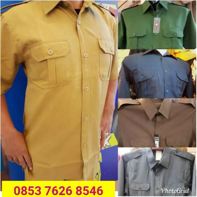 Baju pemda dinas pdh guru coklat pria Shopee Indonesia