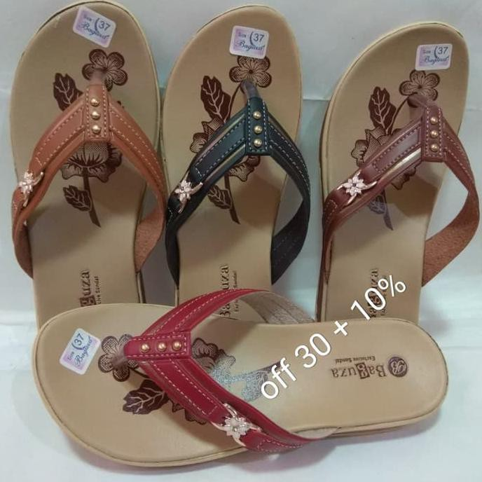 Good Quality Sandal Kulit Wanita Merk Baguza B19 bc0e939702