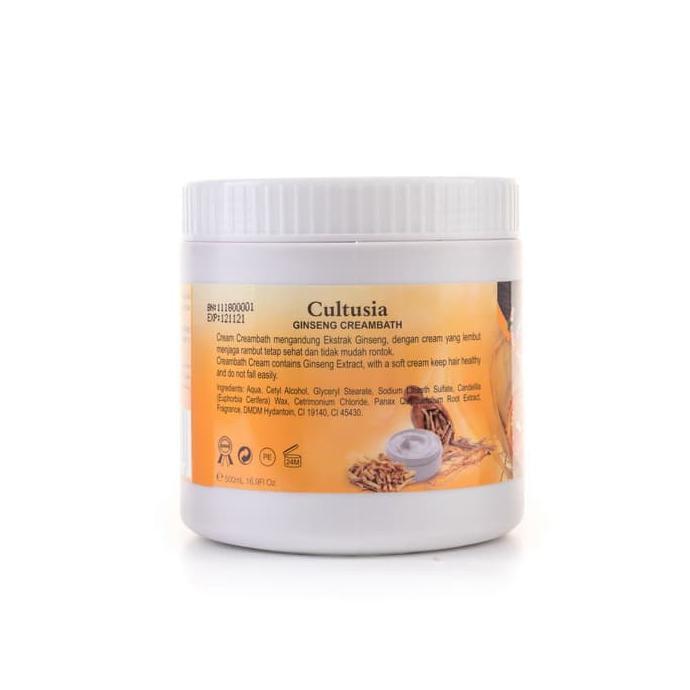 Mask21 75 Cultusia Creambath Ginseng 500ml Masker Rambut Shopee Indonesia