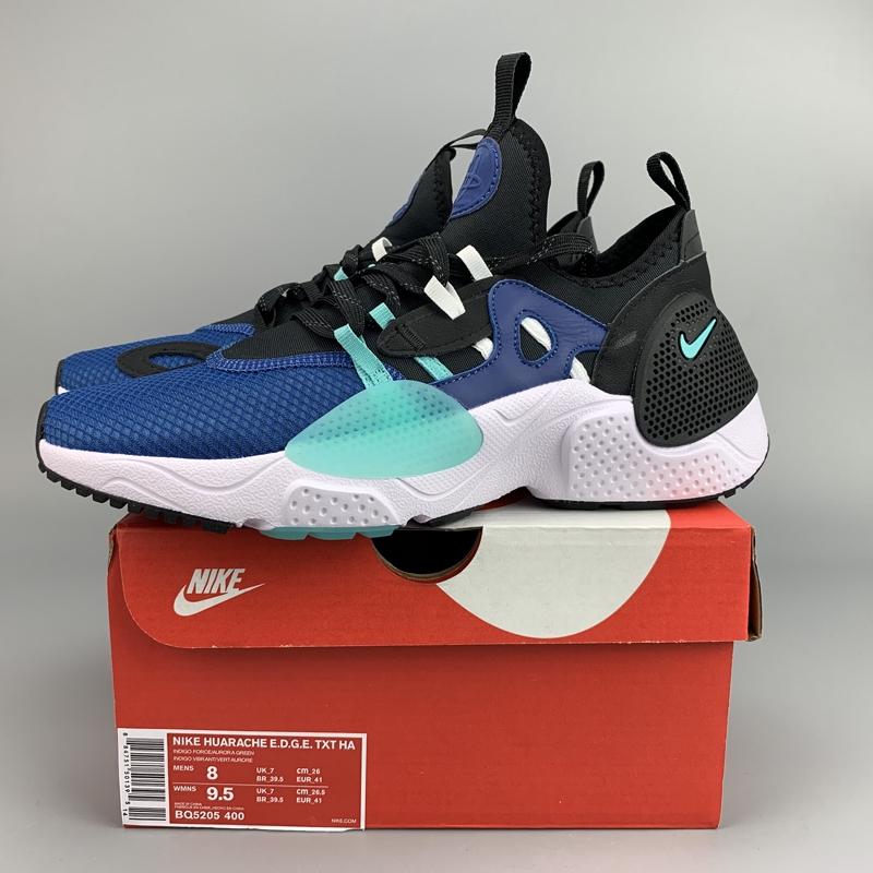 COD NIKE Huarache 7 E.D.G.E. TXT QS Sepatu Olahraga Biru / HitamS