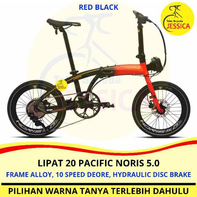 Sepeda Lipat 20 Pacific Noris 5 0 Alloy 10 Speed Hydraulic Disc Brake Shopee Indonesia