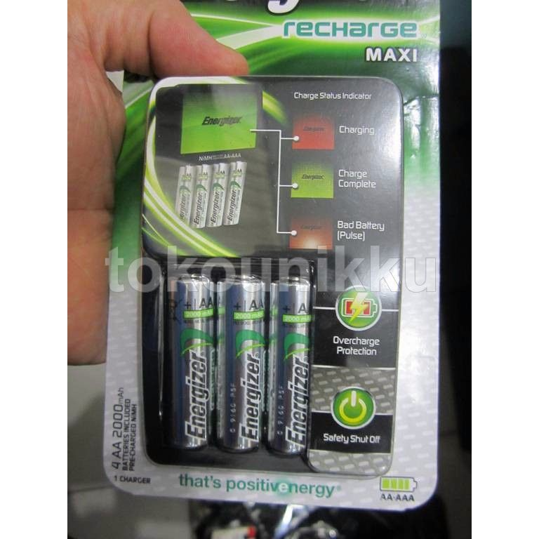 Energizer Charger Baterai Isi Ulang   Charger Battery Rechargeable   Charger  Baterai Cas  4de53a5253