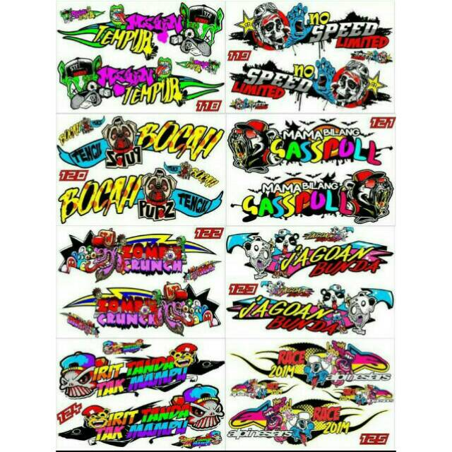Sticker Striping Variasi Thailook Animasi Ninja R Ninja Ss