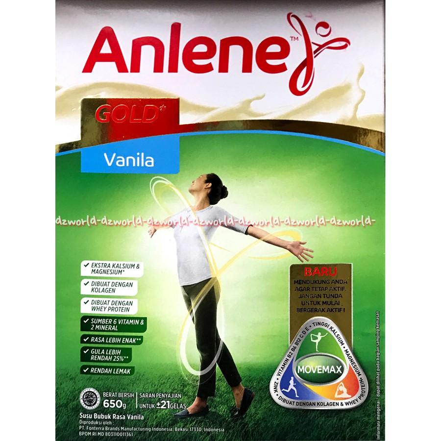 Anlene Actifit Original Susu Anline Tinggi Kalsium Untuk Usia Dapat 3 Produgen Vitafirst Vanila Box 500 Gr 19 50 Tahun 600gr Shopee Indonesia