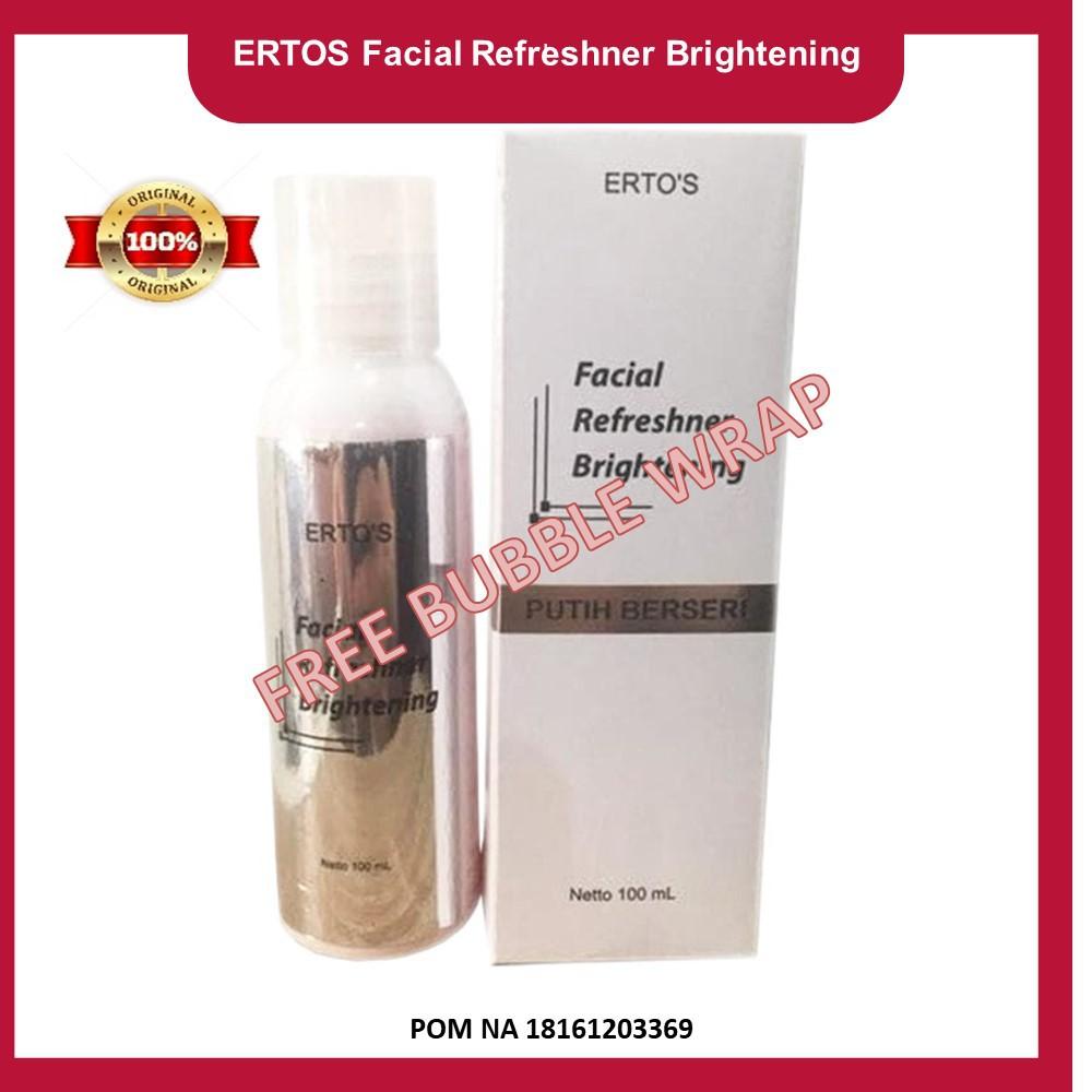 Ertos Facial Refreshner Brightening Toner Daftar Harga Terbaru Pembersih Wajah 100 Ml Shopee Indonesia