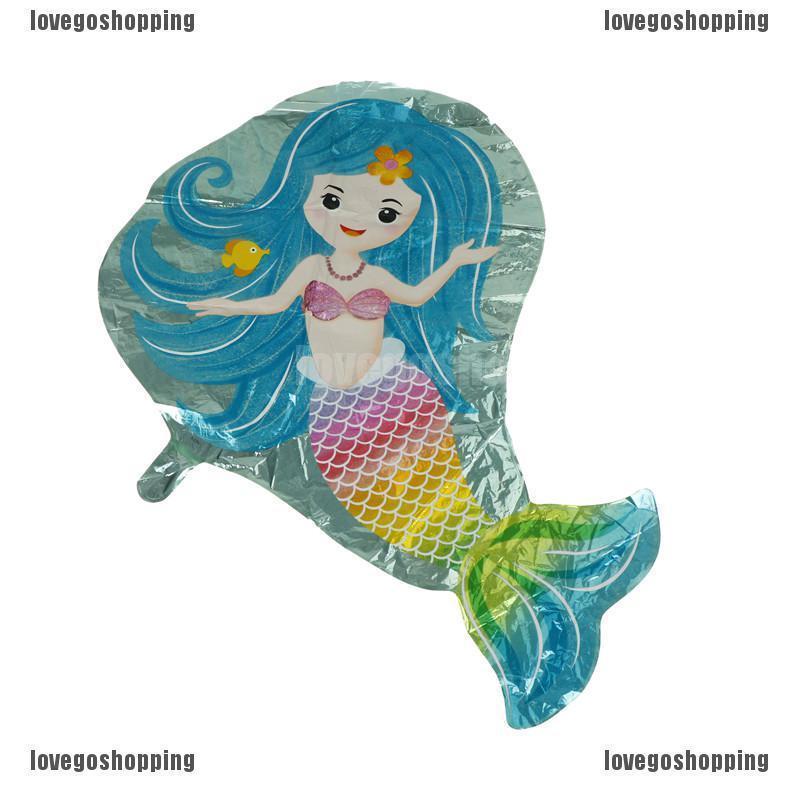 Lovely Mermaid Foil Balloons Kids Toys Christmas Birthday Party Diy Decor