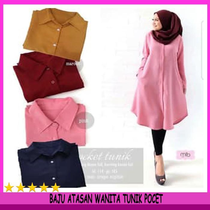 Orire Fashion Baju Atasan Muslin Blouse Wanita 2 Layer  11a1235160