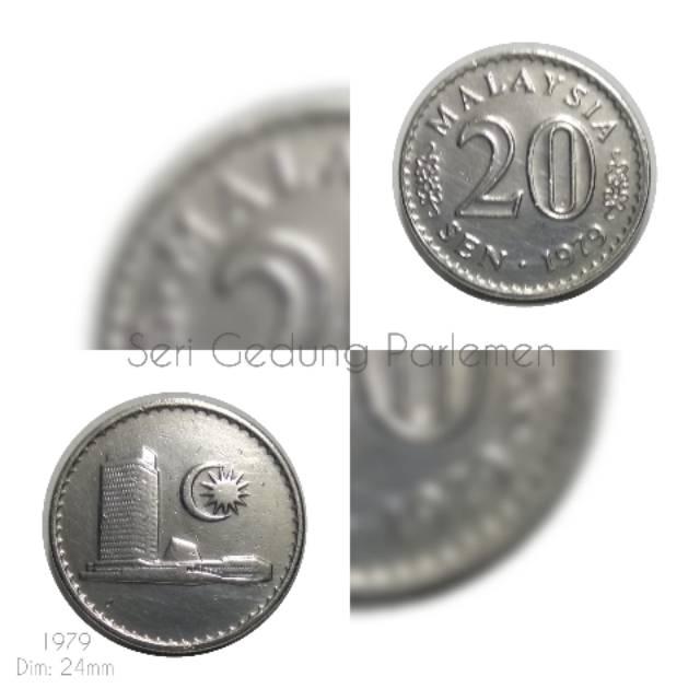 Koin Malaysia 20 Sen Gedung 1979