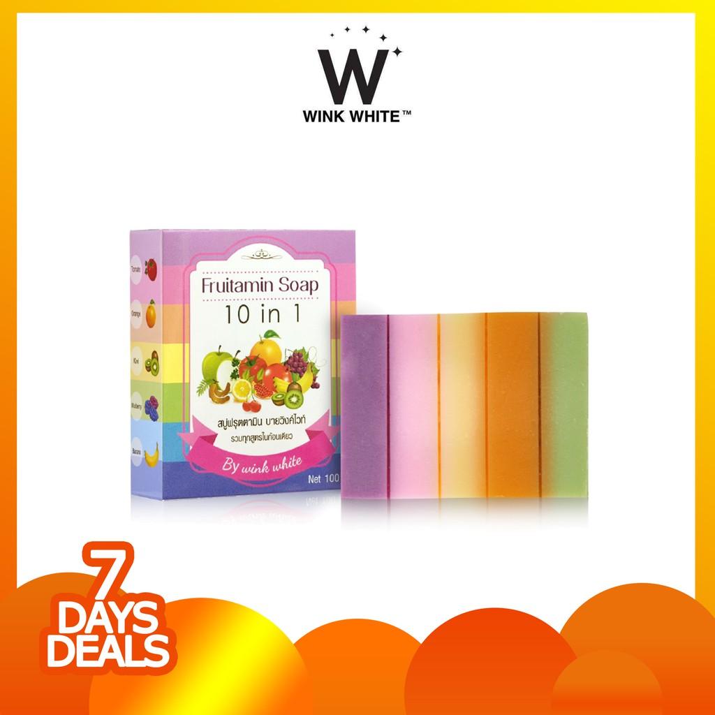 Up To 37 Discount From Brand Fruitamin Soap 10 In 1 Frutamin Sabun Promo 7 Days Deals 10in1 By Wink White Original Thailand