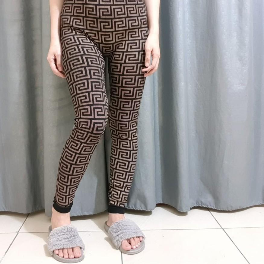 E Legging Versace Full Sablon E Shopee Indonesia