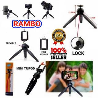👉Ready stock👈2 in 1 Phone Tripod & Selfie Stick Camera Stand with Bluetooth Remote | Shopee Indonesia