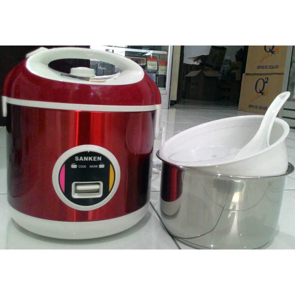 Magic Com Penananak Nasi Rice Cooker Sanken Stenles 1 Liter Sj200 Miyako Jar Mcm 508 18 Shopee Indonesia