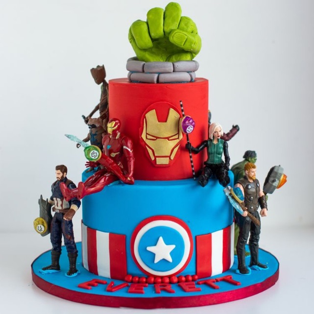 Custom Birthday Cake Karakter Superhero Kue Ulang Tahun Spiderman Batman Kue Tart Anak Superhero Shopee Indonesia