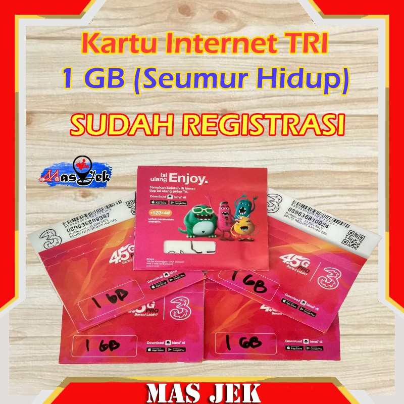 Kartu Internet Tri Kartu Paket Tri Voucher Internet Tri Paket Internet Paket Tri Mas Jek Shopee Indonesia