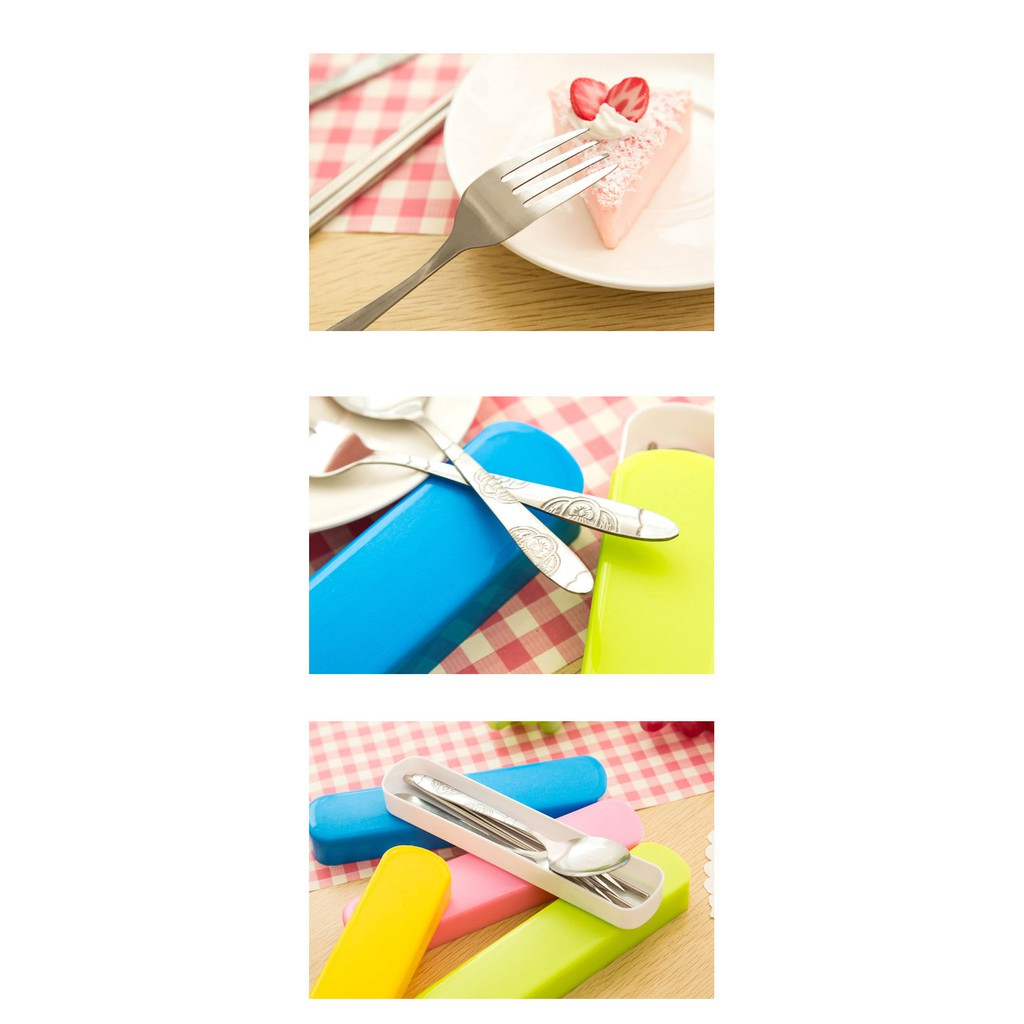 Slide Portable Cutlery - Sendok Garpu Sumpit Travel Stainless