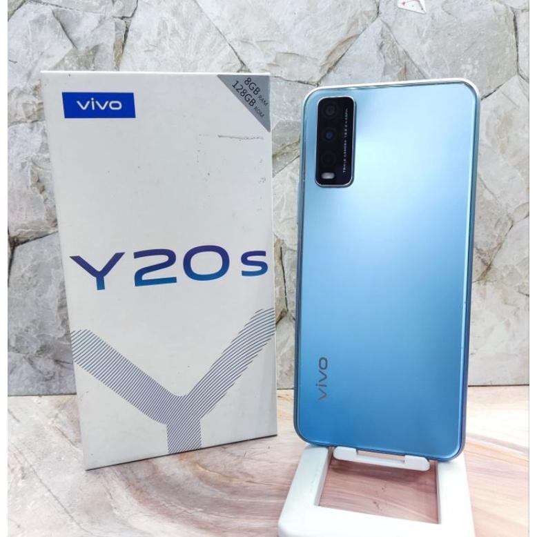 Vivo Y20S Ram 8Gb Internal 128Gb Hp Second Seken Bekas Ex Garansi Resmi Fullset & Batangan