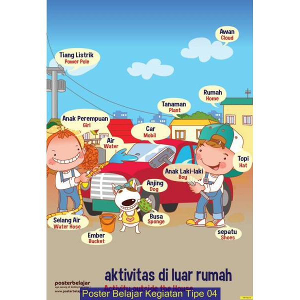 Poster Belajar Kegiatan Tipe 3 Tipe 6 Shopee Indonesia