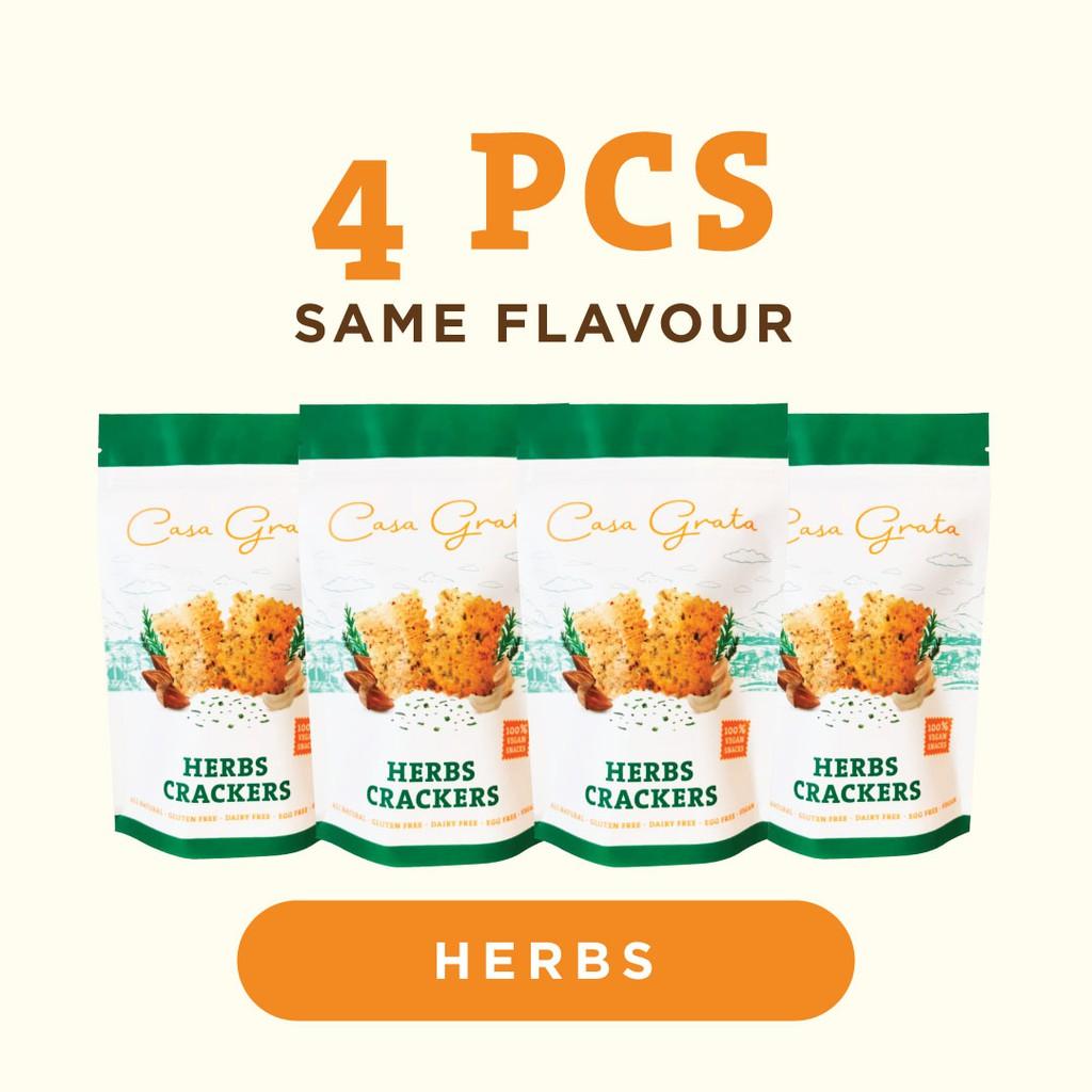 Casa Grata Funtasty 4 A (Set of 4 Casa Grata Crackers with the same flavor)