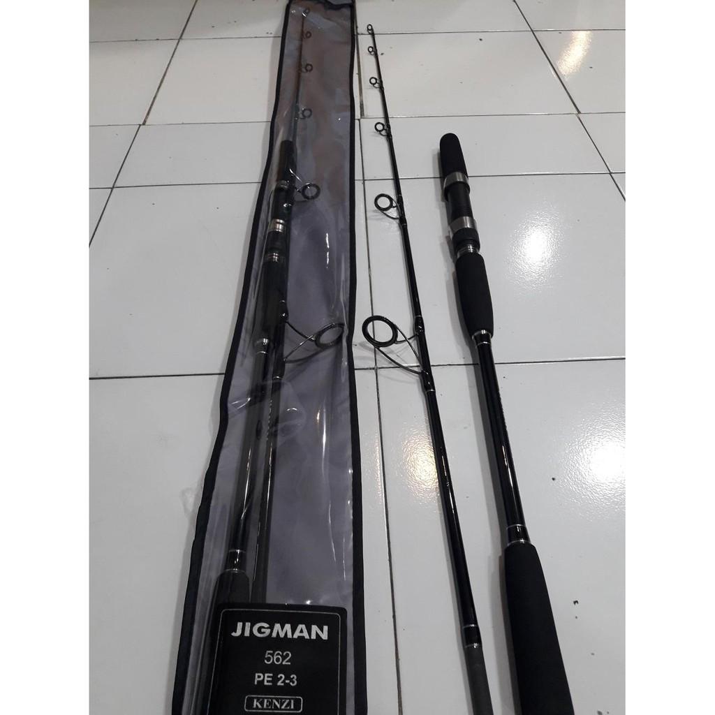 Joran Spinning Kenzi Jig Man 562 Pe 3 4 Shopee Indonesia Torzite Light Cast 165 Rod Casting Bc