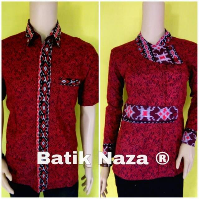 Bluse Batik Sekar MegaMendung Merah  1ce3127922