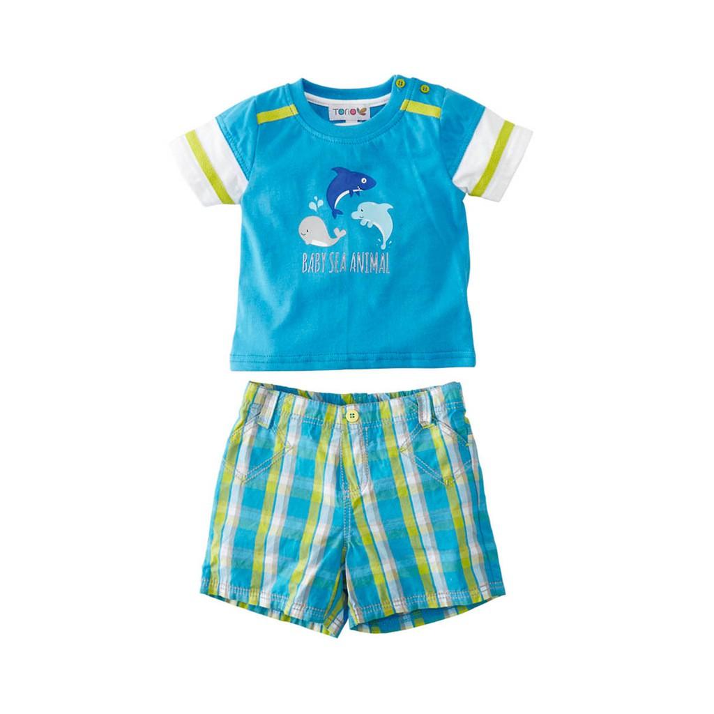 Baju Anak Laki Torio Aquatic Animals Sleeveless Set Shopee Basic B51 0142 4 5 Y Indonesia