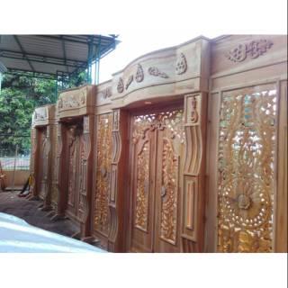 Gebyok Pelaminan Manten Dekorasi Minimalis Wayang Shopee