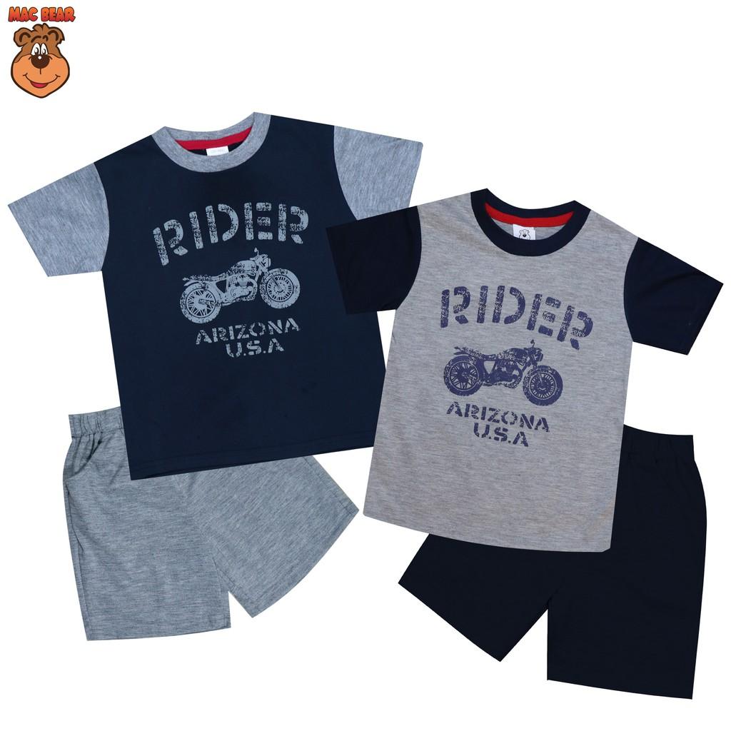 Macbear Kids Baju Anak Setelan Patrick Star Shopee Indonesia Polo Little Dino Park Variasi Dasi Size 1 Merah