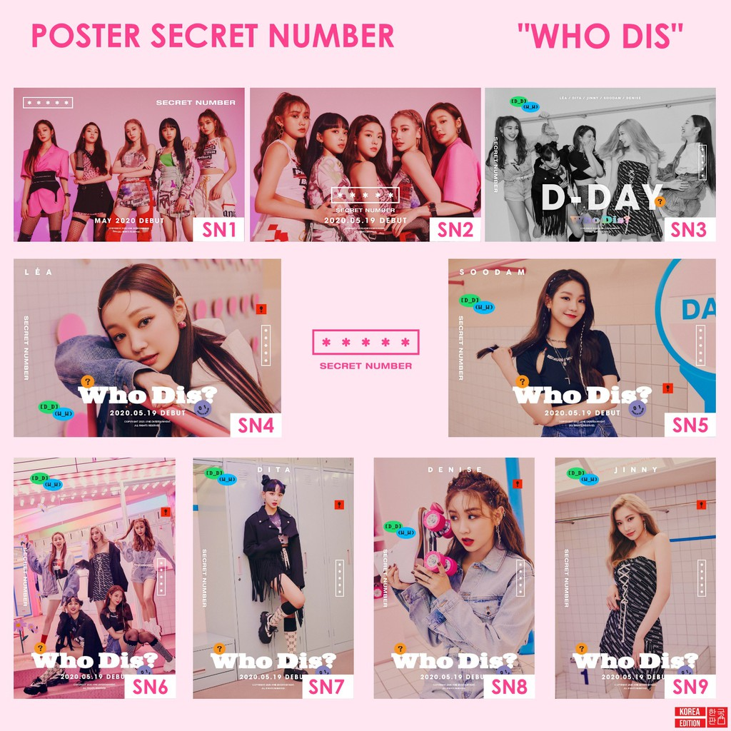 Poster Secret Number Who Dis Dita Lea Jinny Soodam Denise Kpop Shopee Indonesia