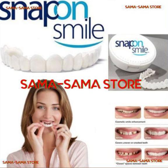 BISA BAYAR DI TEMPAT Snap On Smile 100% ORIGNAL Authentic - Snap 'n Smile Gigi Palsu!!! TERUJI [Kode