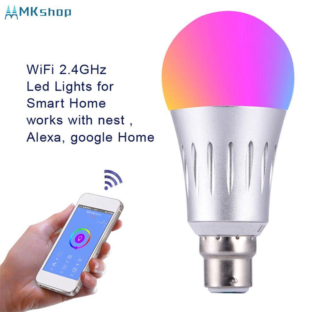 Wifi Smart Led Light Bulb Lighting Rgb E14 Lamp For Alexa Google Home Wy Shopee Indonesia